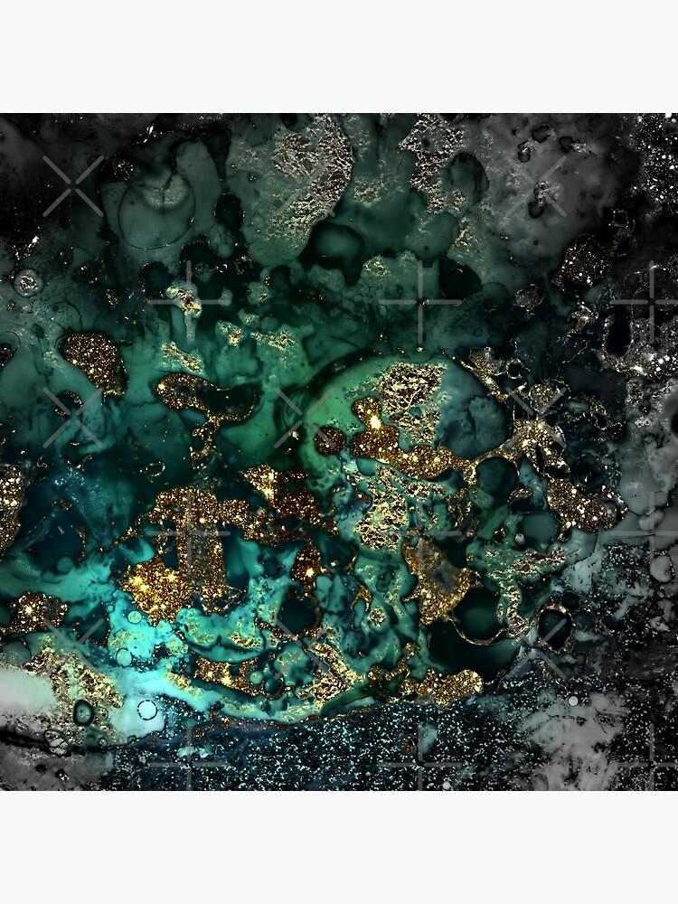 Gold Indigo Malachit Marmor von MysticMarble