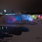 American Falls at night by (Tallow) Dave  Van de Laar
