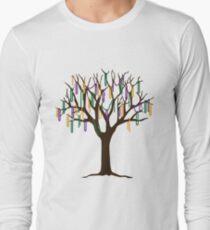Tulane Mardi Gras Bead Tree Long Sleeve T-Shirt