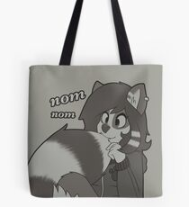 Cute rikki eating her new tail! Tote Bag
