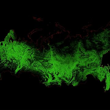 Forest cover map of Russia by GrasshopperGeo
