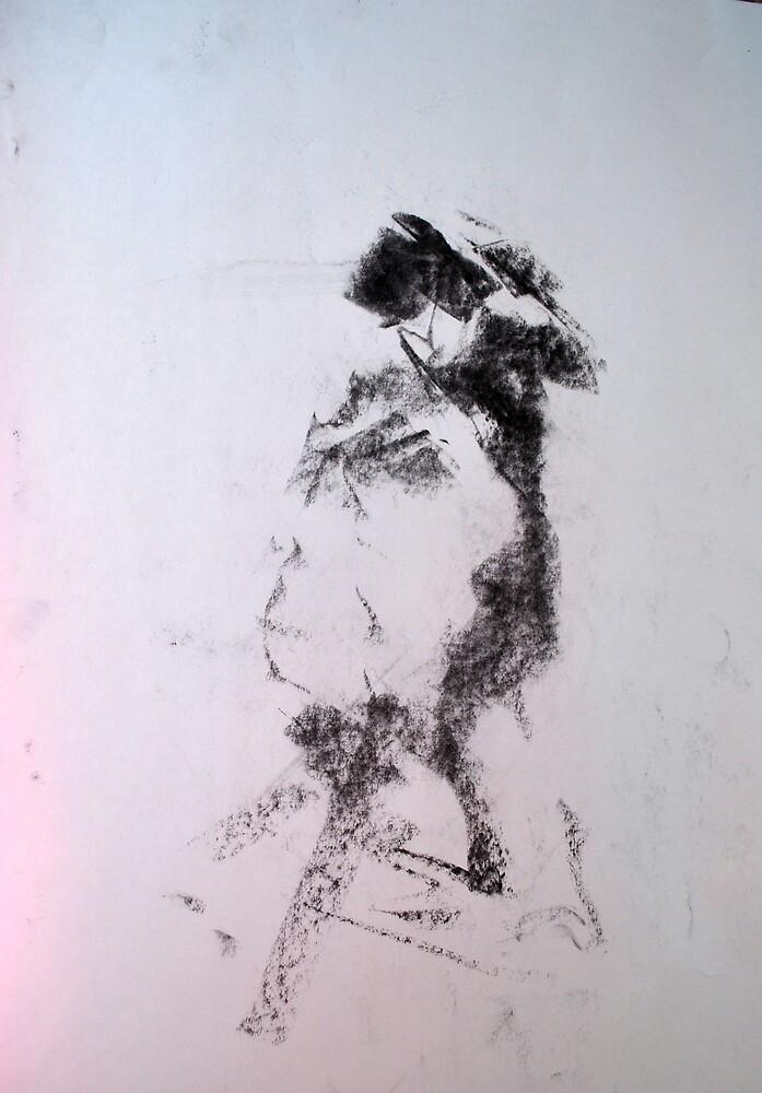 Gestural nude II by Heidi Zito