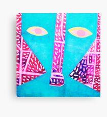 Aqua Head Canvas Print