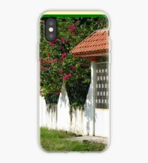 Decorative Entry-way with Flowers iPhone Case
