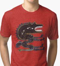decorative surreal dragon Tri-blend T-Shirt