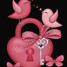 Cute Love Birds by LoneAngel