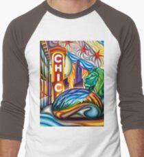 Chicago Landmarks Montage 1 Men's Baseball ¾ T-Shirt