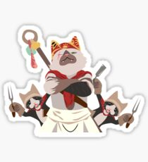 Meowscular Chef and his crew Sticker