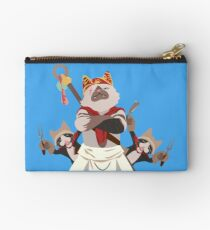 Meowscular Chef and his crew Studio Pouch