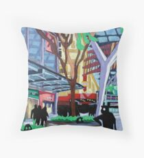 Queen St Mall, Brisbane (Version 2) Throw Pillow