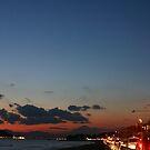 sunset shichirigahama with fuji by CathySurgeoner