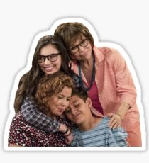 One Day at a Time main family hug - the Alvarez's  Sticker