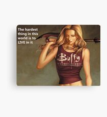 Buffy Quotes Canvas Print