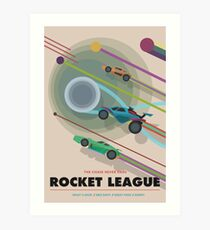Rocket League - The Chase Never Ends (NASA STYLE DESIGN) Art Print