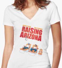 Raising Arizona Women's Fitted V-Neck T-Shirt