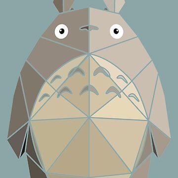 Origami Totoro by McBethAllen