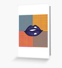 Pop Art Lips Greeting Card