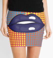 Pop Art Lips Mini Skirt