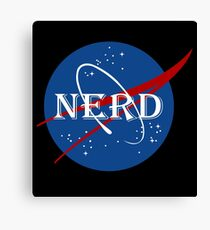 Nerd Funny Geek Nerd Canvas Print