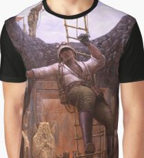 Steampunk Archaeologist Graphic T-Shirt