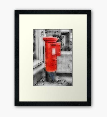 Pillar Box-Stamp Machine Framed Print