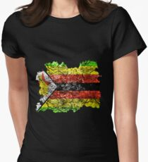 Zimbabwe Vintage Flag Women's Fitted T-Shirt