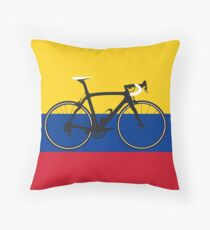 Bike Flag Colombia (Big - Highlight) Throw Pillow