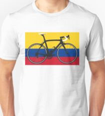 Bike Flag Colombia (Big - Highlight) Unisex T-Shirt