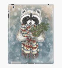 Holiday Raccoon iPad Case/Skin