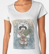 Holiday Raccoon Women's Premium T-Shirt