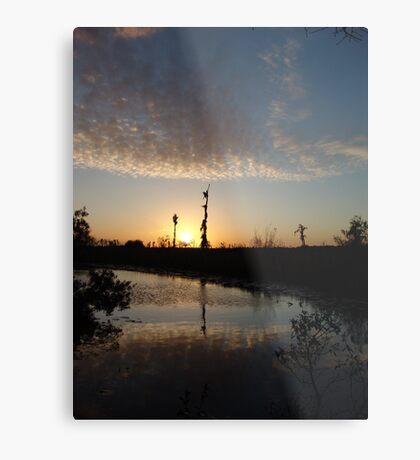 Sunset January 21, 2009 on Econfina Creek Metal Print