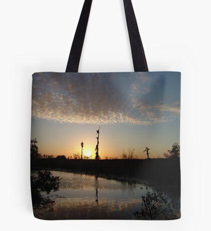 Sunset January 21, 2009 on Econfina Creek Tote Bag