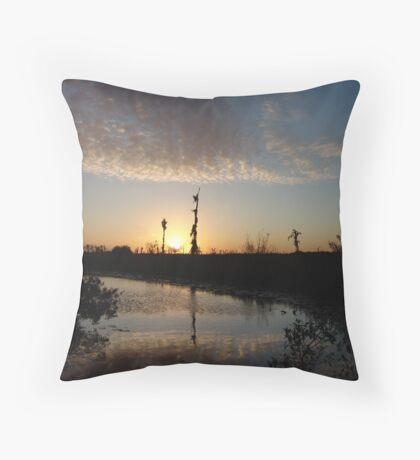 Sunset January 21, 2009 on Econfina Creek Throw Pillow