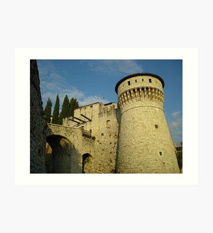 Castle of Brescia Art Print
