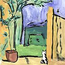 Spanish painting with cat by Abi Latham