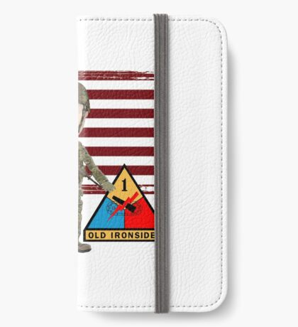 1st Armored Division - Proud Veteran iPhone Wallet