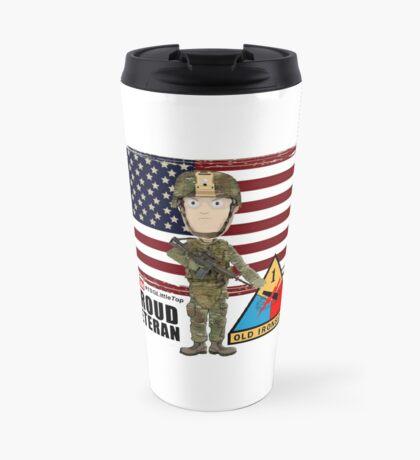 1st Armored Division - Proud Veteran Travel Mug