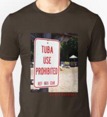 Camiseta unisex Tuba Use Prohibited