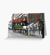 A Horse Drawn Bus - © Doc Braham; All Rights Reserved. Greeting Card