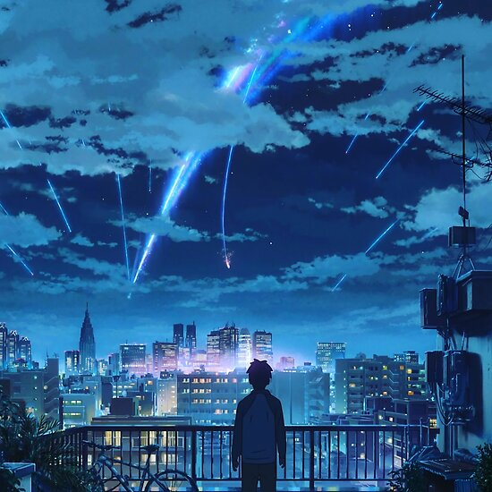Quot Kimi No Na Wa Your Name Taki Stars Balcony Quot Poster By