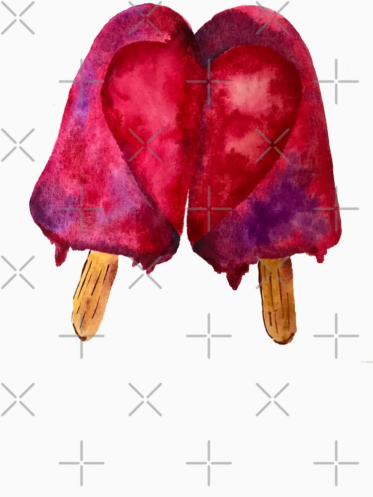 Two Hearts Love Melting Popsicle by jstunkard