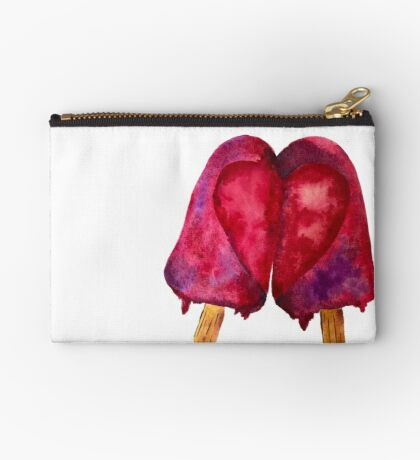 Two Hearts Love Melting Popsicle Studio Pouch