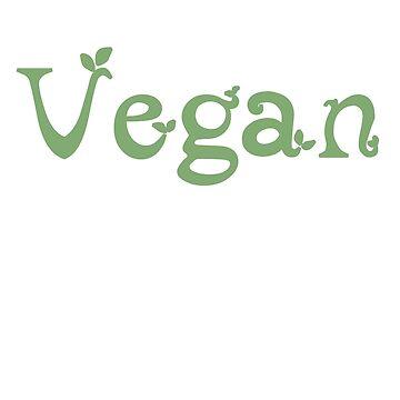 Vegan Leaf Design by MichesMerch