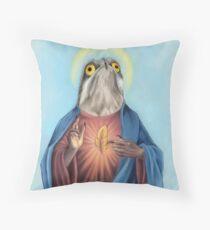 Our Lord and savior potoo bird Throw Pillow