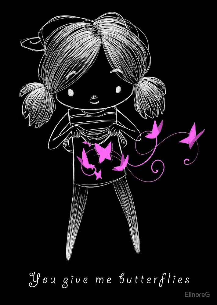 Belly butterflies by ElinoreG