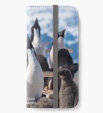 Crooning Adelie Penguins iPhone Wallet/Case/Skin