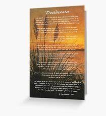 Desiderata – Go Placidly Greeting Card