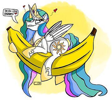 Celestia LOVES Bananas! by Cooper31