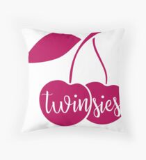 "Valentine's Day ""Twinsies"" Pillow - Version 2 Throw Pillow"