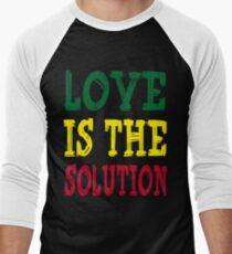 LOVE IS THE SOLUTION Men's Baseball ¾ T-Shirt